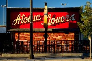 Atomic Liquors patio sign