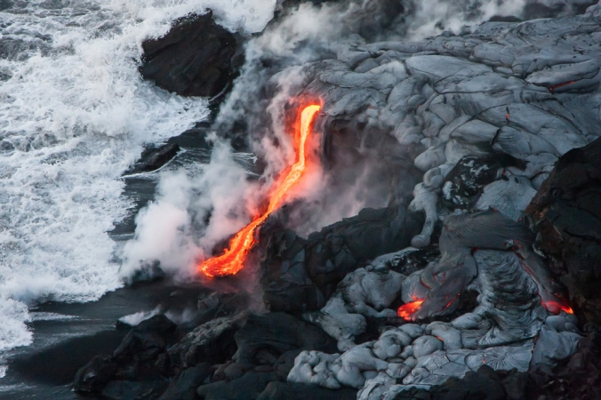 Big island lava