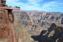 The Grand Canyon Skywalk hangs over a ledge of the West Rim.