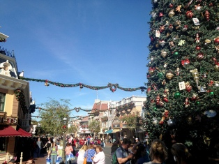 Main Street USA at Christmastime