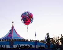 Balloons over King Arthur's Carousel in Fantasyland