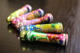 Multicolored bingo daubers