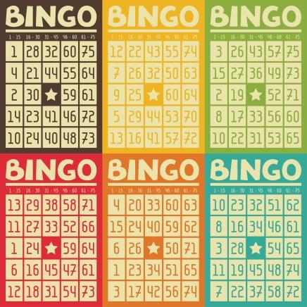 Vintage bingo pages