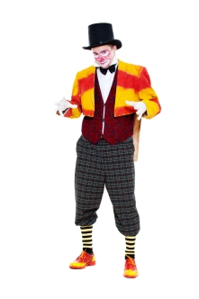 Man in a clown costume